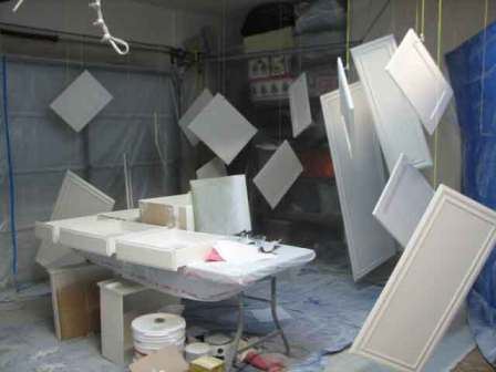 The garage spray booth
